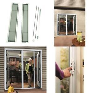 72 In X 78 In Brisa White Short Height Double Door Kit Retractable Screen Door Ebay