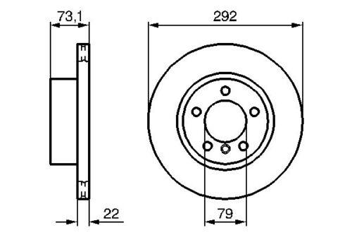 L/'avant ventilé disque de frein 292mm pour bmw 3 série 05-11 E90 316I 318D 318I 320I
