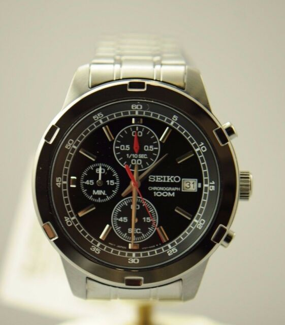 Seiko Sks437 Chronograph Black Ion Stainless Steel 100m Men S Watch