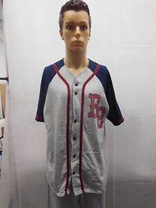 BB-KING-Baseball-Jersey-Mens-XL-Navy-Blue-Gray-Red-Cotton-2000