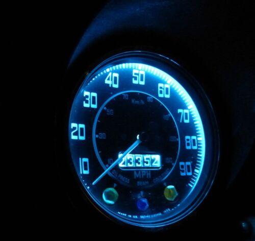 Bombilla de 12 V para el salpicadero del autom/óvil Luz verde T5 B8.5D Juego de 2 l/ámparas LED tablero