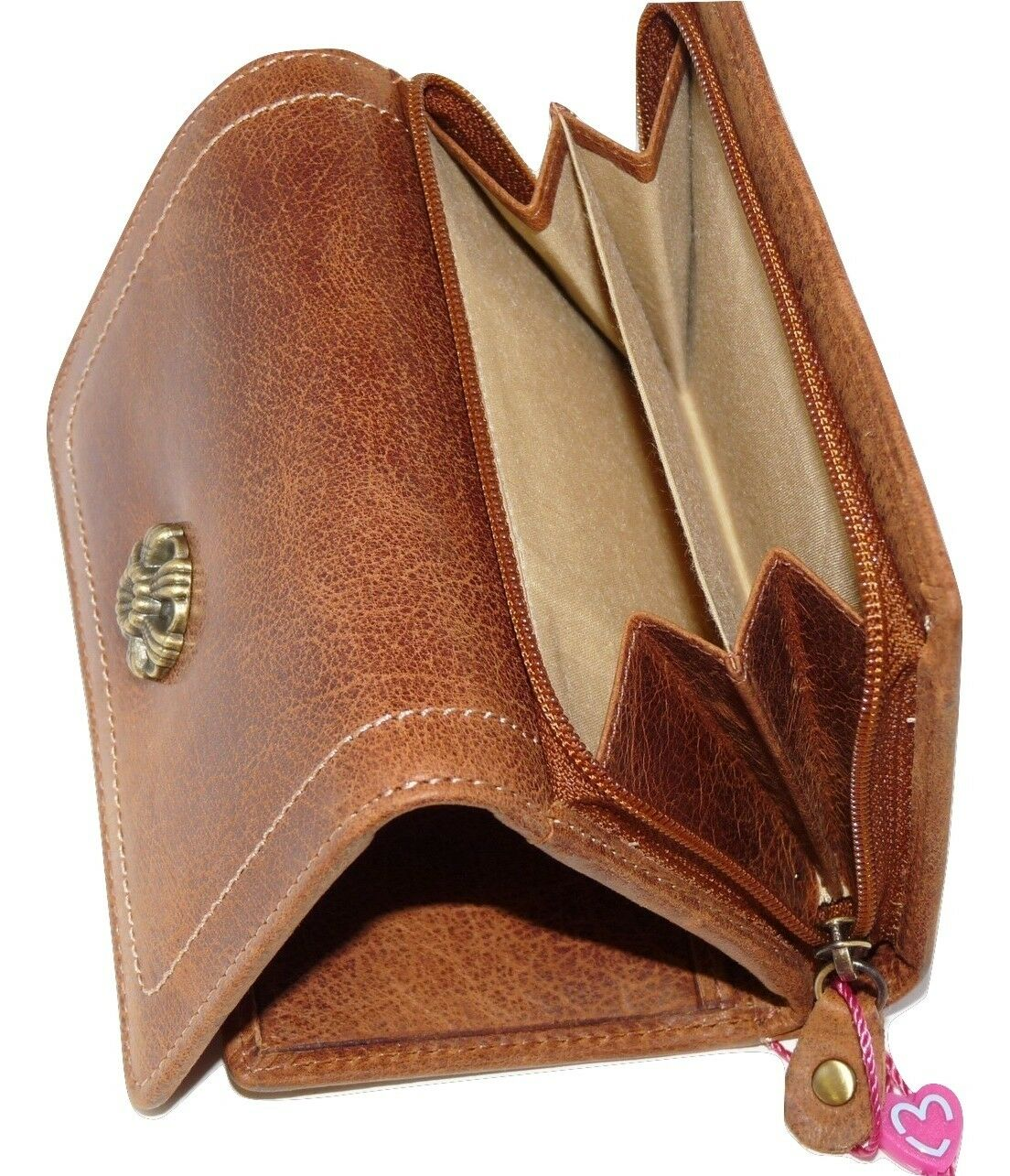 Mala leather 4129 88 NEW RFID Protection coin purse NEW Tudor collection tan