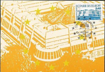 Pflichtbewusst Council Of Europe Headquarters Strasbourg Maximum Card France Europarat Sitz Org Waren Des TäGlichen Bedarfs Diverse Philatelie Briefmarken