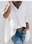 Lochstickerei Tunika Schlupfbluse Longshirt weit bequem weiß BW 48 50 52 **Neu**