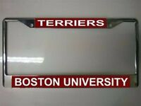 Boston University Photo Chrome License Frame