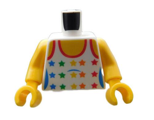 Lego Torso Top Shirt in weiss Sterne in Regenbogen Farben 973pb0567c01 Neu
