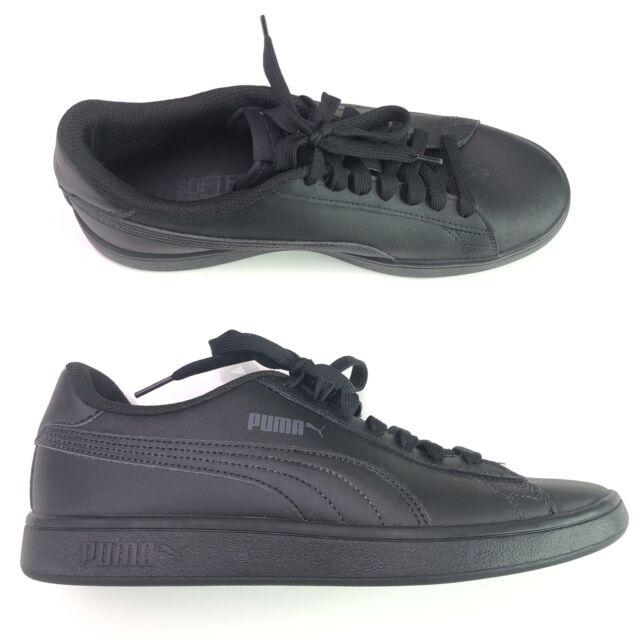 PUMA Smash V2 L Leather Black Low