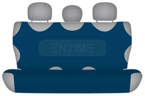 Sitzbezüge marineblau blau hinten KOS HYUNDAI I10