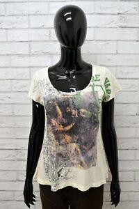 Maglia-DIESEL-Donna-Taglia-Size-S-Maglietta-Shirt-Woman-Cotone-Manica-Corta