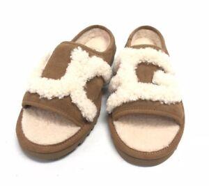 befaf95bee1 Details about UGG Australia Women's UGG SLIDE Chestnut 1019730 Suede  Slipper House Shoes