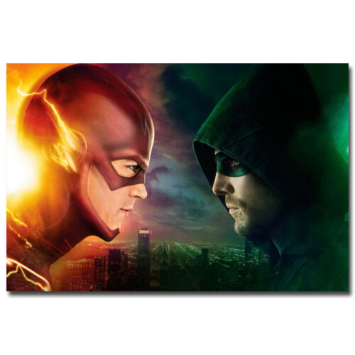 The Flash and Arrow TV Series Art Silk Wall Poster 24x36 inches 002