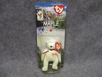 1999 Mcdonald's Ty Teenie Beanie Babies Baby Maple The Bear In Blister Pack