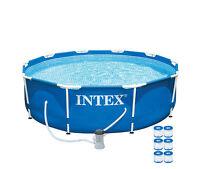 Intex 10' X 30 Metal Frame Set Swimming Pool With 330 Gph Pump & 6 Pack Filters on sale