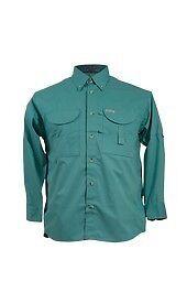 Tiger Hill Men/'s Fishing Shirt Long Sleeves Teal