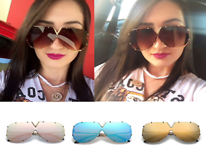 Ladies Womens Large Oversized Summer Fashion Designer Big Frame Sunglasses UK