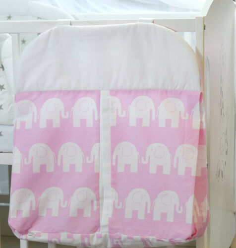 BABY NURSERY NAPPY STACKER DIAPER BAG//COT//COT BED DIAPER STACKER NAPPY BAG