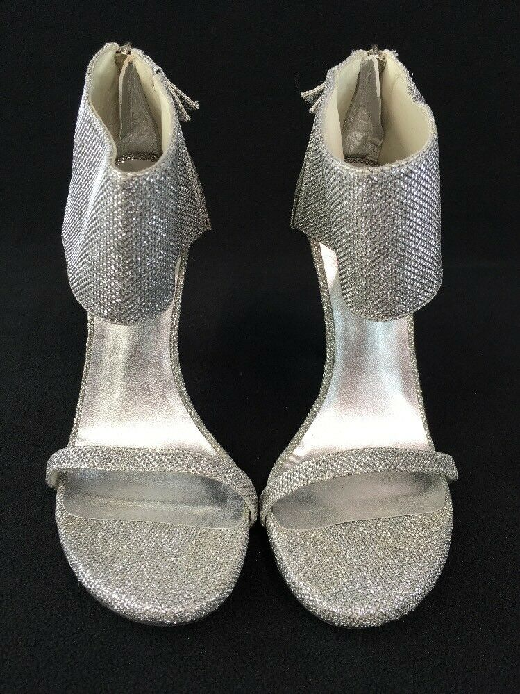 Stuart Weitzman Showgirl Showgirl Showgirl Silver Noir Evening Sandales Größe 9M  D2262/ b5be5c