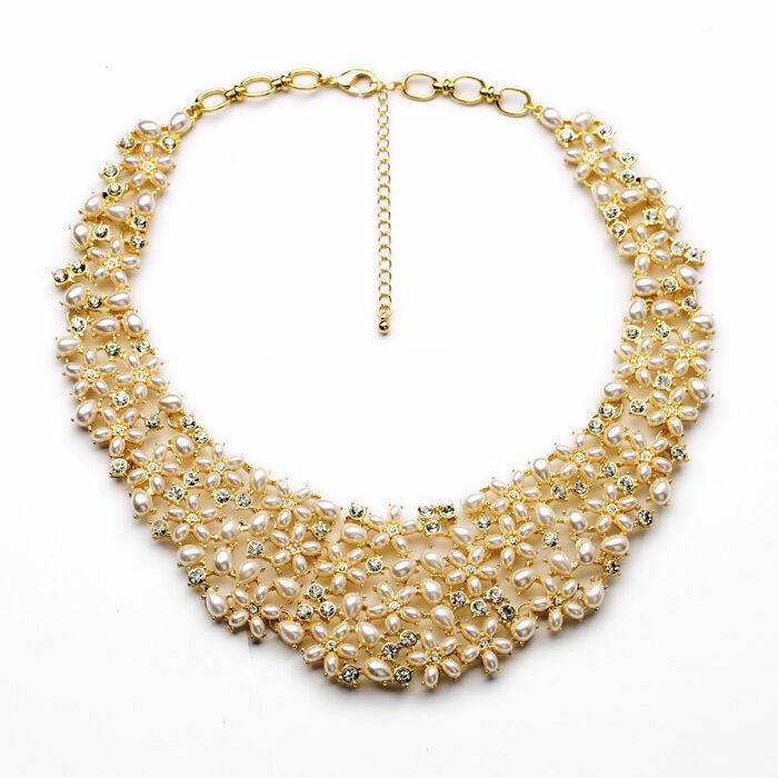 Halskette RAS hals- mini Perle Retro Stil modern Original Abend Ehe jd 3