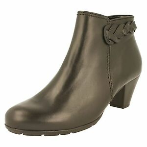 in 640 pelle Ladies Boots 27 35 Gabor Ankle nera qYIwZB