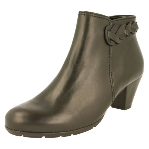 Gabor Ladies Ankle Boots 35.640.27 Black Leather