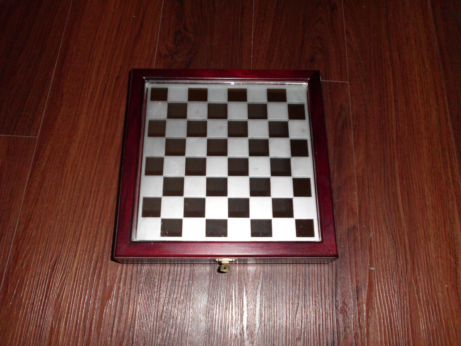 Edles Schachspiel aus Glas unbespielt (war ein Weihnachtsgeschenk) Weihnachtsgeschenk) Weihnachtsgeschenk) siehe Fotos 5cb2bd