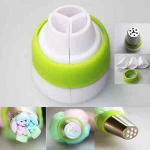 3-Color-Icing-Piping-Bag-Russian-Nozzle-Tips-Adapter-Coupler-Cake-Decor-Tool-AIL