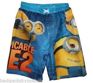 4f7119b4e7 Despicable Me 2 MINION Swim Trunks Board Shorts Boy's 4/5 NeW UV50 ...