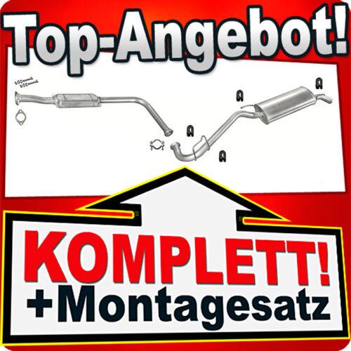 Auspuff RENAULT CLIO I 1.2 1.4 Auspuffanlage 786