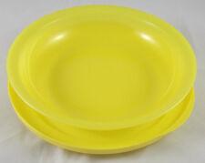 Tupperware Junge Welle 700 ml Schale mit Teller / Deckel Gelb Neu