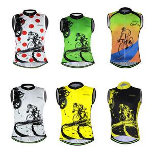 Men-039-s-Reflechissant-Cyclisme-Gilet-Top-Sans-Manches-velo-cyclisme-jersey-shirt