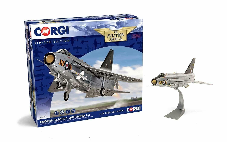 CORGI English Electric Lightning F.6 XS927 N, 74 SQUADRIGLIA  LE TIGRI's - AA28402