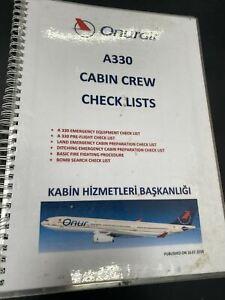 Onur Air A330 Cabin Crew Checklists