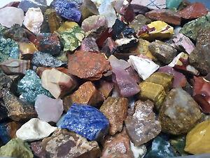 Rock Tumbling Rough 1Lb Premium World Tumble Mix Vivid Color Gem Jewelry Quality