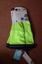 New XL Cycling Leg Warmers Teflon Fleece Line Neon Yellow Reflective Gift