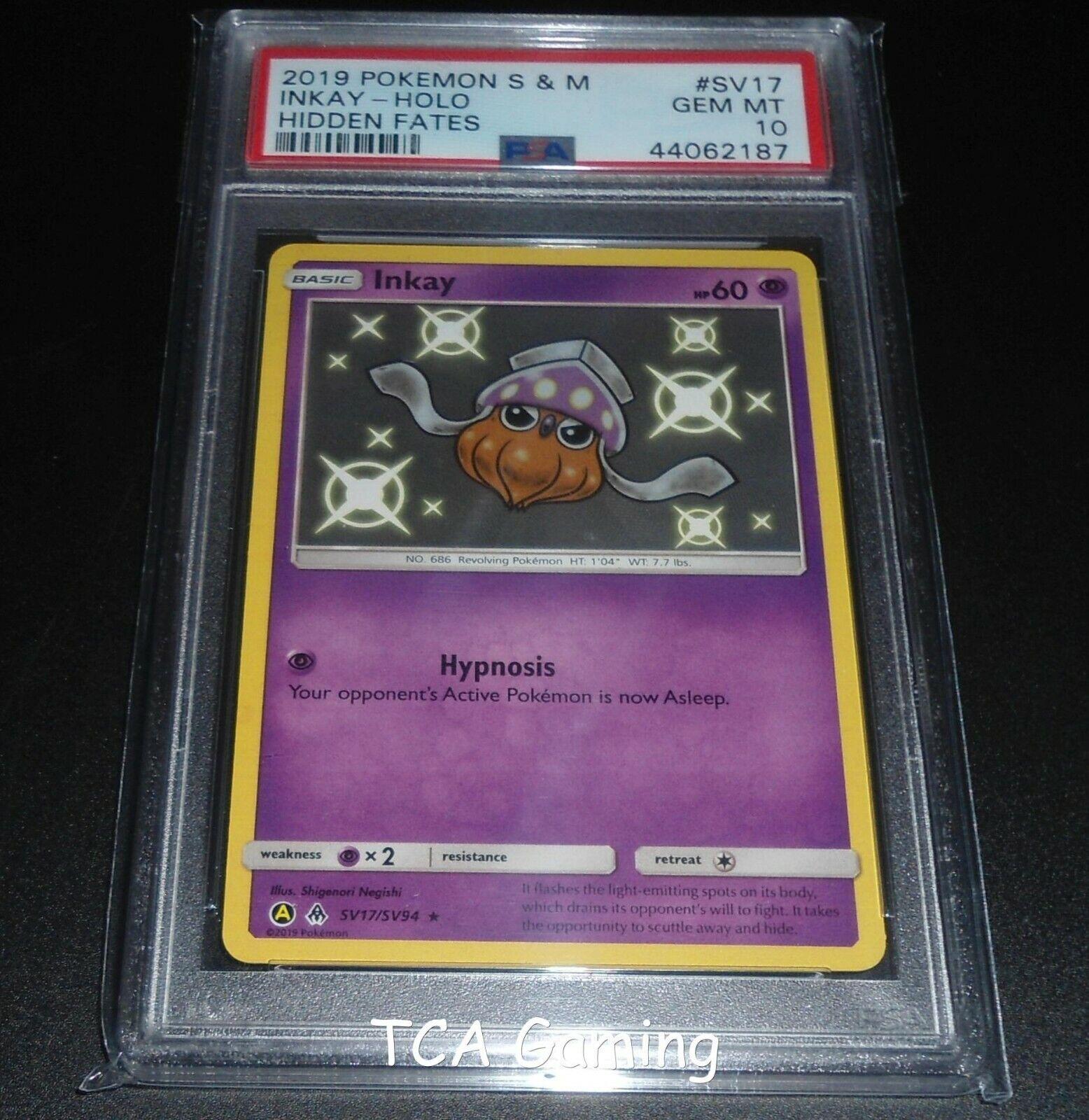 PSA 10 GEM MINT Sudowoodo SV20//SV94 SM Hidden Fates SHINY HOLO RARE Pokemon Card