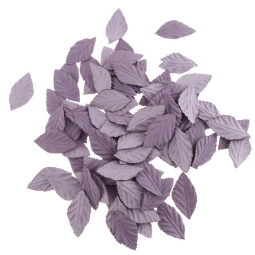 Lots 100Pcs Artificial Silk Fake Rose Flower Leaves Bulk Wedding Party Decor
