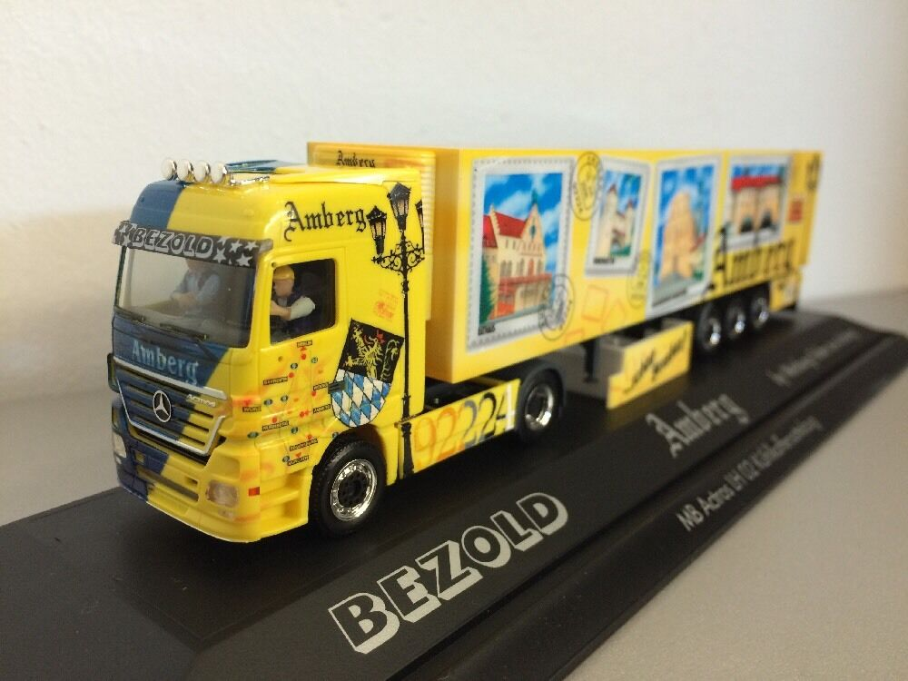 Herpa 1 87 MERCEDES ACTROS Amberg camion Bezold dans PC Box
