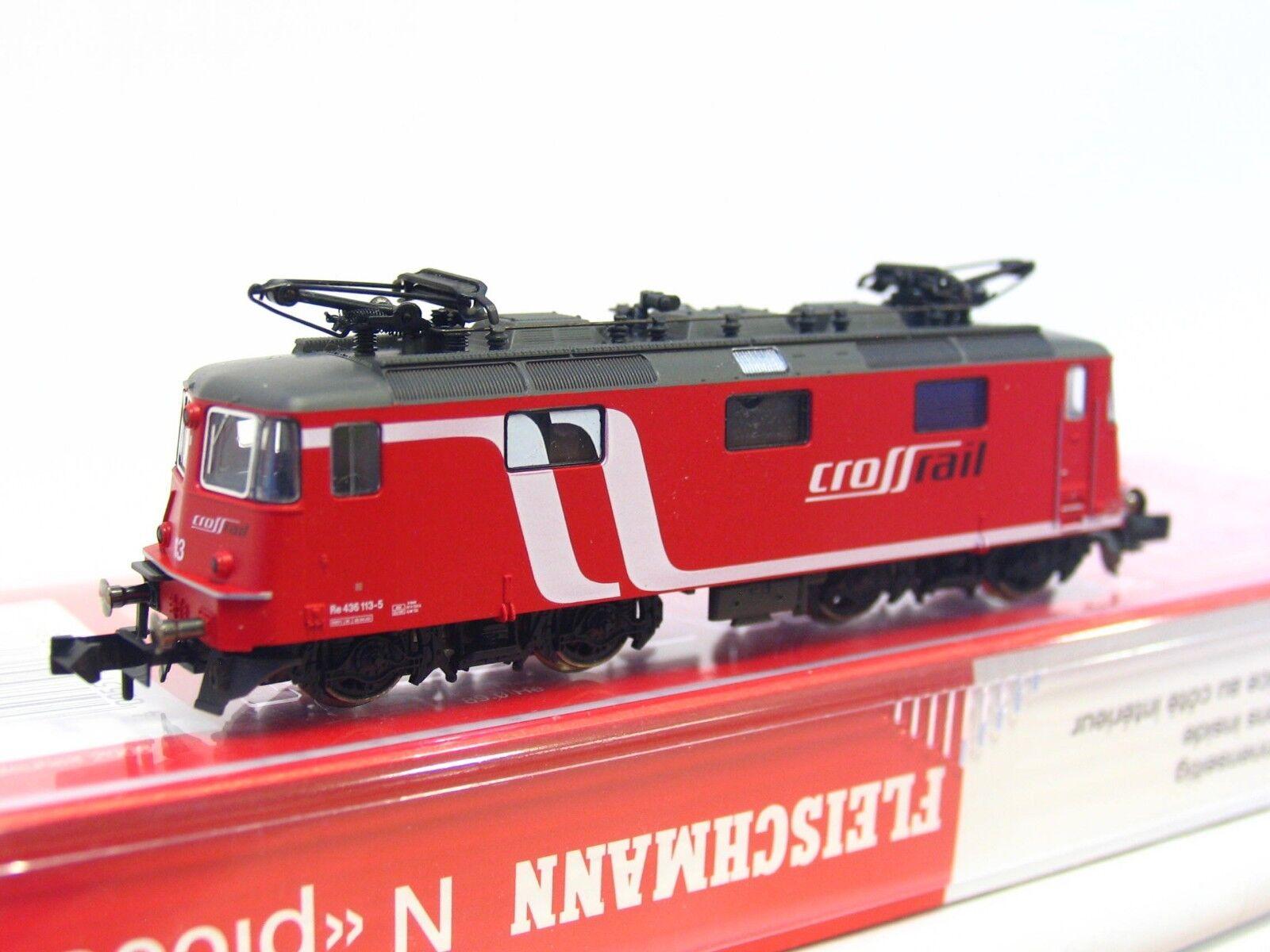 Fleischmann N 733901 E-Lok Re 436 113-5 überquerenrail OVP (RB98)