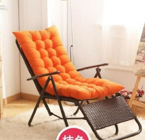 Cotton soft Seat Pad Replacement Cushion Pad Garden Sun Lounger Recliner Chair#