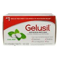 6 Pack Gelusil Antacid & Anti-gas Cool Mint Chewable Tablets 100 Tabs Each on sale