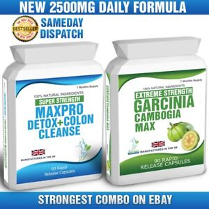 GARCINIA-CAMBOGIA-90-CAPSULES-60-COLON-CLEANSE-CLEAN-DETOX-WEIGHT-LOSS-TIPS