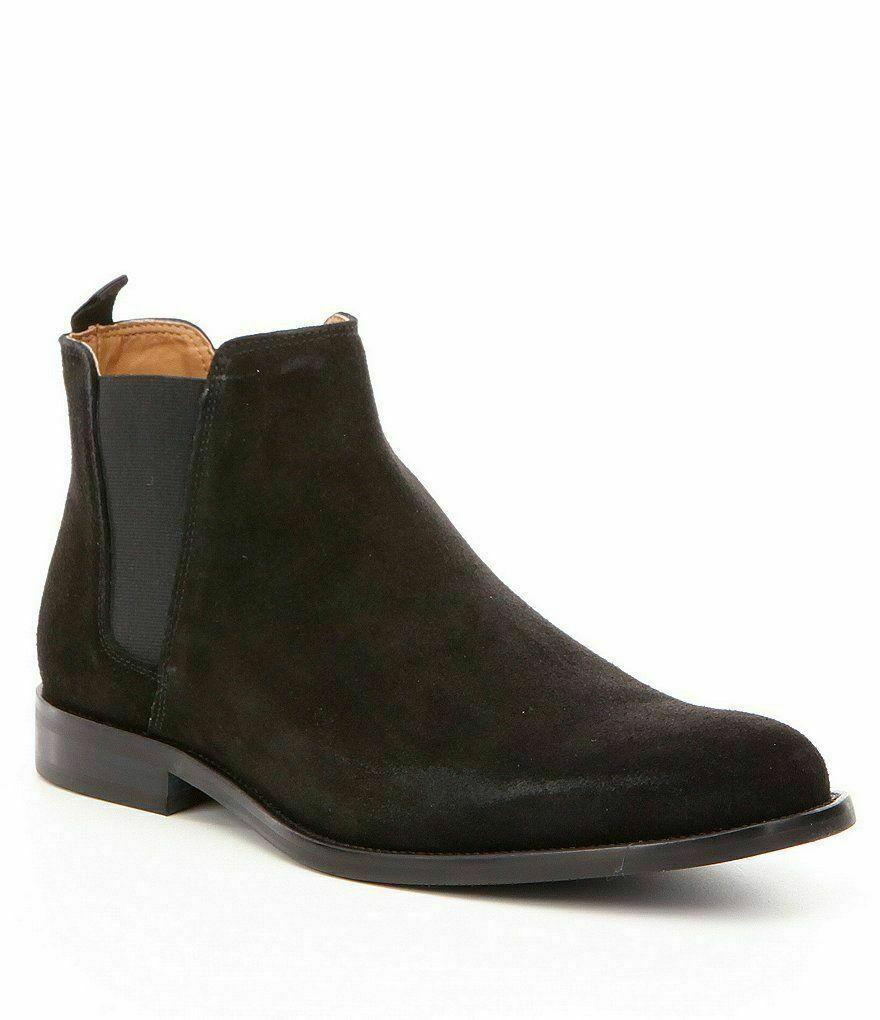 botas para hombre hecho a mano Genuino Gamuza Marrón Zapatos informales al tobillo Formal Chelsea Jumper