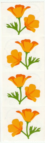 Vintage Mrs Grossman Flower Stickers Tulip Poppy Iris Scrapbook You Choose