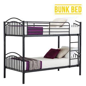Modern-3FT-Single-Black-Metal-Bunk-Bed-Frame-2-Person-for-Adult-Children