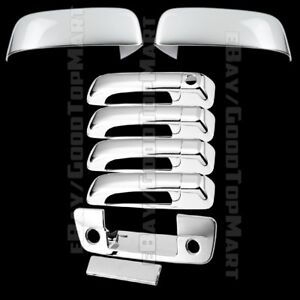 For DODGE Ram 1500 2009-2012 2013 2014 2015 Chrome 2 FULL Mirror Mirrors Covers