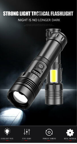 900000LM XHP70 LED Flashlight Ultra Bright 7Modes Zoom Most Brightest Torch UP