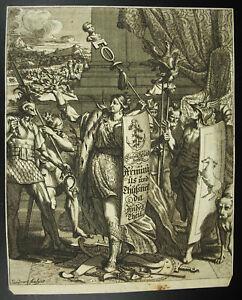 Agrippina-Thusnelda-Allegorie-Germania-Triumphant-J-Sandrart-1690-Germany-Xvii