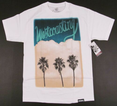 WESTCOASTING T-shirt Enemy Of The State CA California Tee Men M or L White NWT