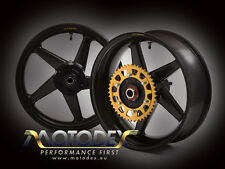 Honda RC30 Dymag Carbon Fibre Wheels - Complete, Ready to Fit