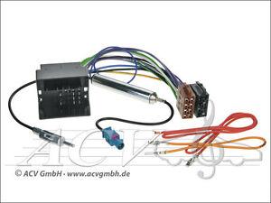 Auto-Radio-Quadlock-Kabel-Antennen-Adapter-150Ohm-OPEL-AGILA-B-ASTRA-H-CORSA-C-D